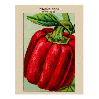 Paprika Rojo francés del vintage Piment Postales