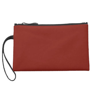 PAPRIKA (solid deep red color) ~ Wristlet Clutches