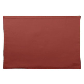 PAPRIKA (solid deep red color) ~ Cloth Placemat
