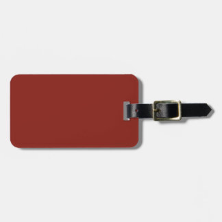 PAPRIKA (solid deep red color) ~ Tag For Bags