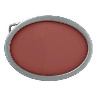 PAPRIKA (solid deep red color) ~ Oval Belt Buckle