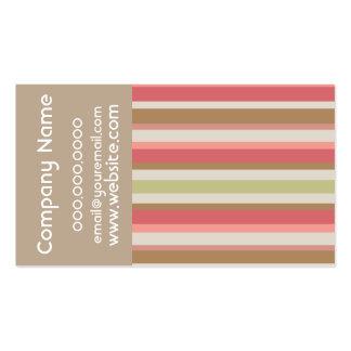 Paprika Stripes Pattern Business Card