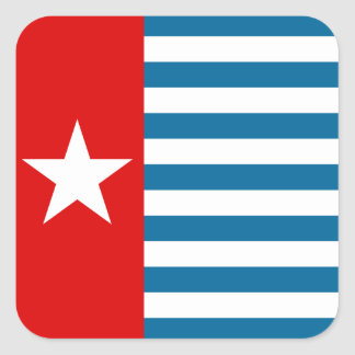 Papua del oeste pegatina cuadrada