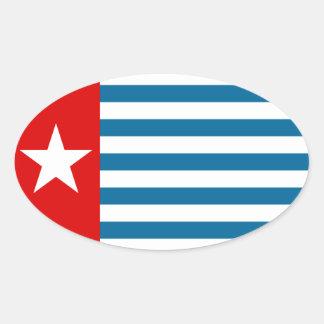Papua del oeste pegatina ovalada