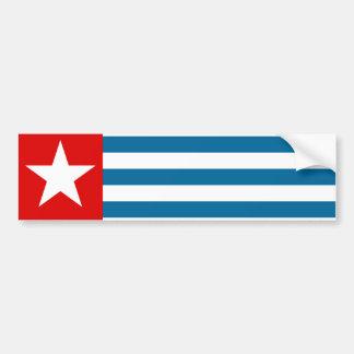 Papua del oeste pegatina para auto