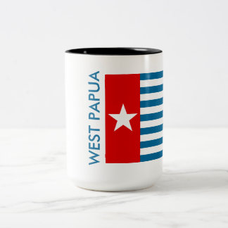 Papua del oeste taza de dos tonos