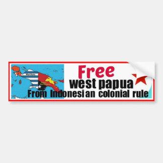 Papua libre pegatina para auto