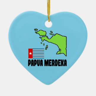 Papua Merdeka Ceramic Ornament