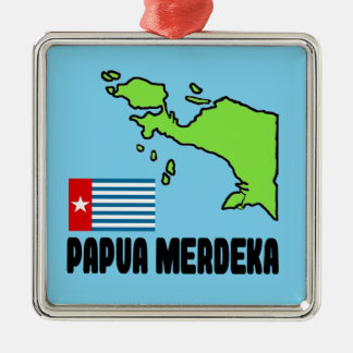 Papua Merdeka Metal Ornament