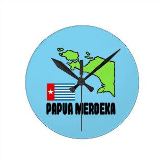Papua Merdeka Round Clock