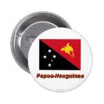 Papua-Neuguinea Flagge mit Namen Pins