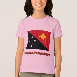 Papua-Neuguinea Flagge mit Namen T-Shirt