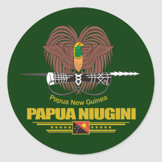 Papua New Guinea COA Classic Round Sticker