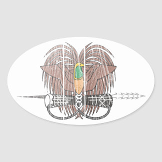 Papua New Guinea Coat Of Arms Oval Sticker