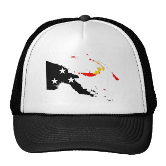 papua new guinea country flag map shape trucker hat