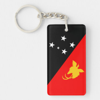 Papua New Guinea country flag nation symbol Keychain
