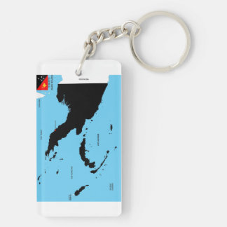 papua new guinea country political map flag keychain