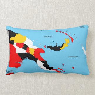 papua new guinea country political map flag lumbar pillow