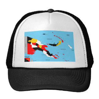 papua new guinea country political map flag trucker hat