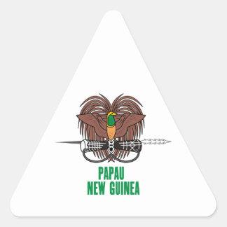 PAPUA NEW GUINEA - emblem/flag/coat of arms/symbol Triangle Sticker