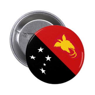 Papua New Guinea Fisheye Flag Button
