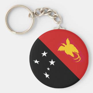 Papua New Guinea Fisheye Flag Keychain