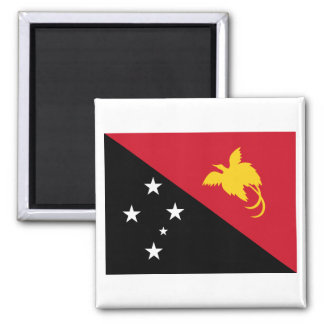 Papua New Guinea Flag 2 Inch Square Magnet