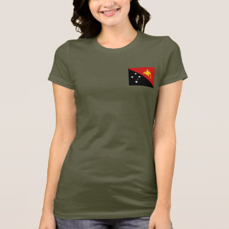 Papua New Guinea Flag and Map dk T-Shirt