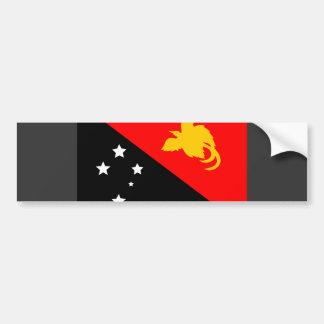 Papua New Guinea Flag Car Bumper Sticker