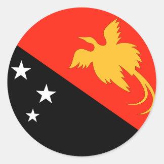 Papua New Guinea Flag Classic Round Sticker