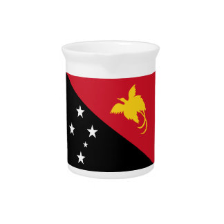 Papua New Guinea Flag Drink Pitcher