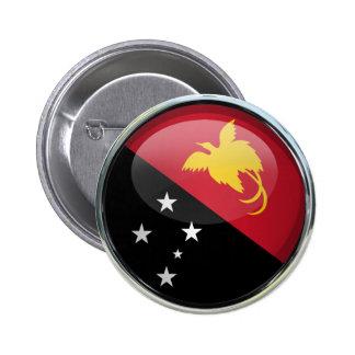 Papua New Guinea Flag Glass Ball Button