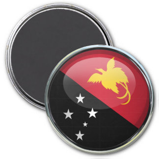 Papua New Guinea Flag Glass Ball Magnets