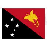 Papua New Guinea Flag Greeting Cards