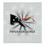 Papua New Guinea Flag Map 2.0 Poster