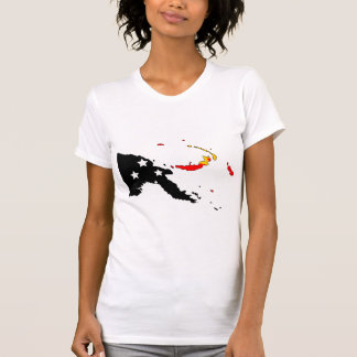 Papua New Guinea Flag Map full size T Shirt