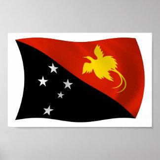 Papua New Guinea Flag Poster Print