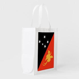 Papua New Guinea Flag Reusable Grocery Bag