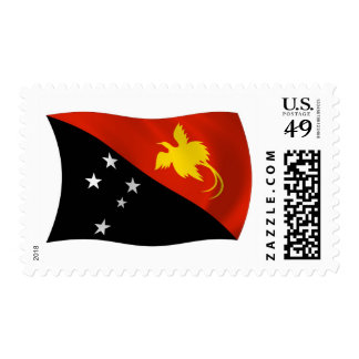 Papua New Guinea Flag Stamps