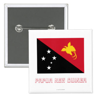 Papua New Guinea Flag with Name Button