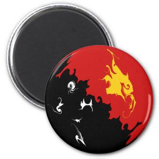 Papua New Guinea Gnarly Flag Magnet