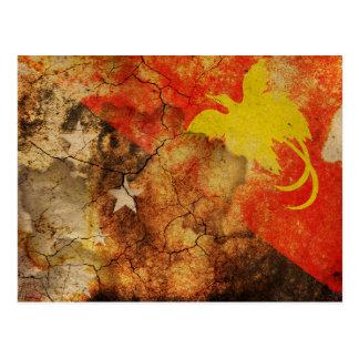 Papua New Guinea Grunge Flag Postcard