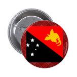 Papua New Guinea High quality Flag Button