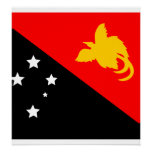 Papua New Guinea High quality Flag Posters