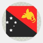 Papua New Guinea High quality Flag Round Sticker