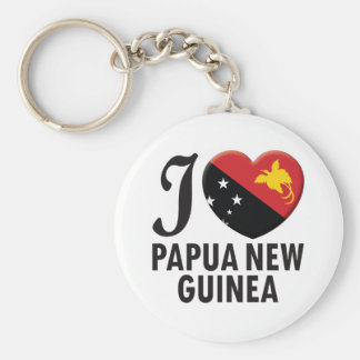 Papua New Guinea Love Basic Round Button Keychain