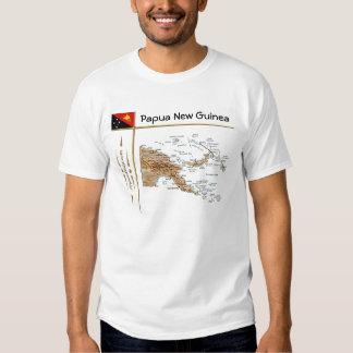Papua New Guinea Map + Flag + Title T-Shirt