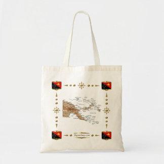 Papua New Guinea Map + Flags Bag