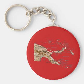 Papua New Guinea Map Keychain