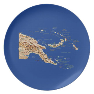 Papua New Guinea Map Plate